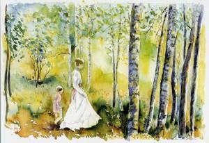 På livets stig_Anita_Löfman_akvarell