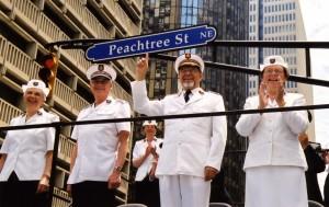 Atlanta_2000_General John Gowans och kommendör Gieséle Gowans, Stabschefen kommendör John Larsson och kommendör Freda Larsson