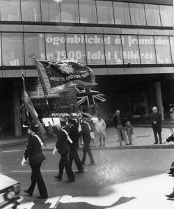 Bristol Easton Band England FanbärareKongressen 1980_Intressant text i fönstret