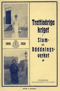 Broschyrens_framsida_Slum-och Räddningsverket 30år_1920