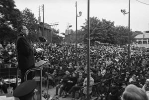 1967 Dåvarande Stabschefen Erik Wickberg talade