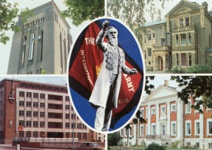 Vykort_The International Training College_The Cedars_Statue of William Booth_International Headquarters_Sunbury Court Photography by Robin Bryant