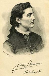 Jenny Swenson_Stabskapten_tecknat av W. Meyer_ur Runt Jorden Nov 1888