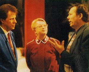 Sångaren Göran Lindberg_Strängmusikkårens ledare Miriam Kratz_Skivbolagsdirektör Bert Karlsson