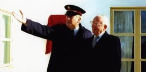 Bertil Rodin och Claës Palme vid invigningen av Elevhemmet 1997