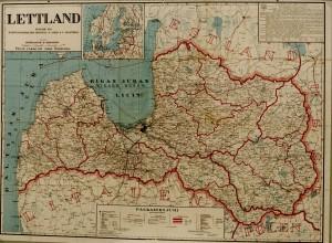 Lettlands karta