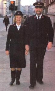 Mona & Björn Stockman på marsch i Riga